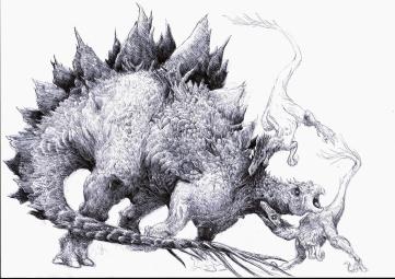 stegosaurus et raptors