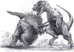 triceratops et tyrannosaurus